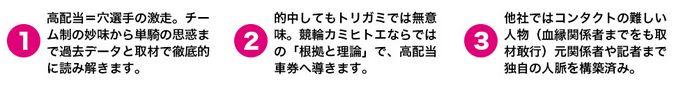 競輪カミヒトエ_3つのこだわり