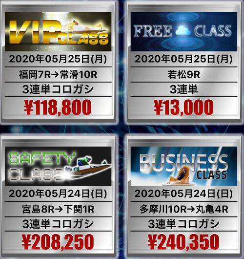 競艇投資ハイクラス(HIGH CLASS)_的中情報